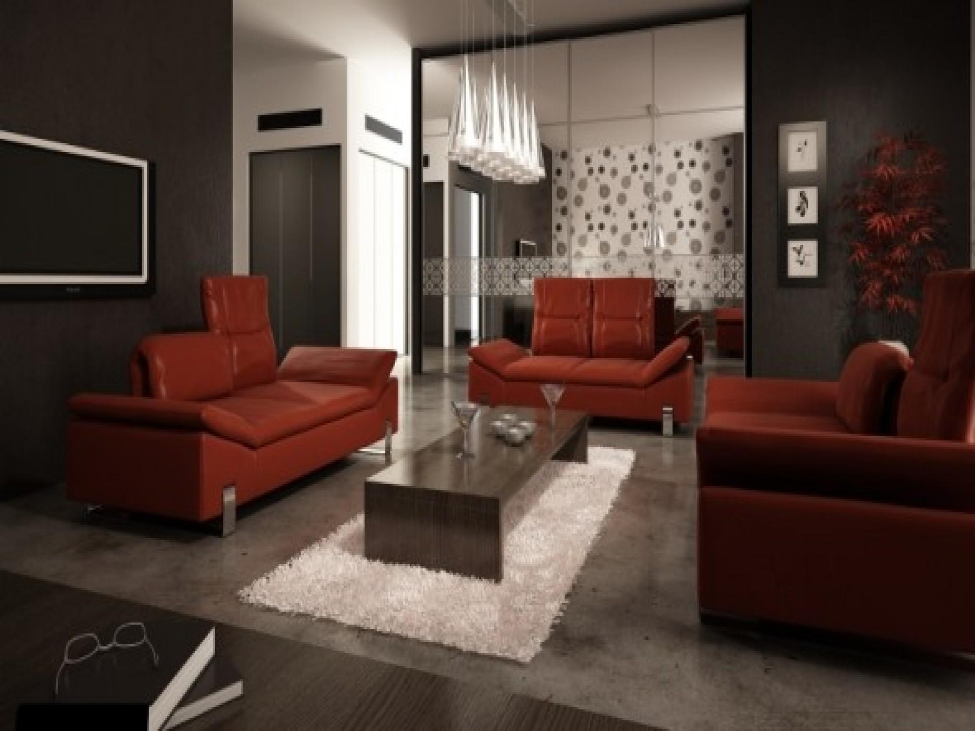 Decorate Red Leather Sofa Menzilperde