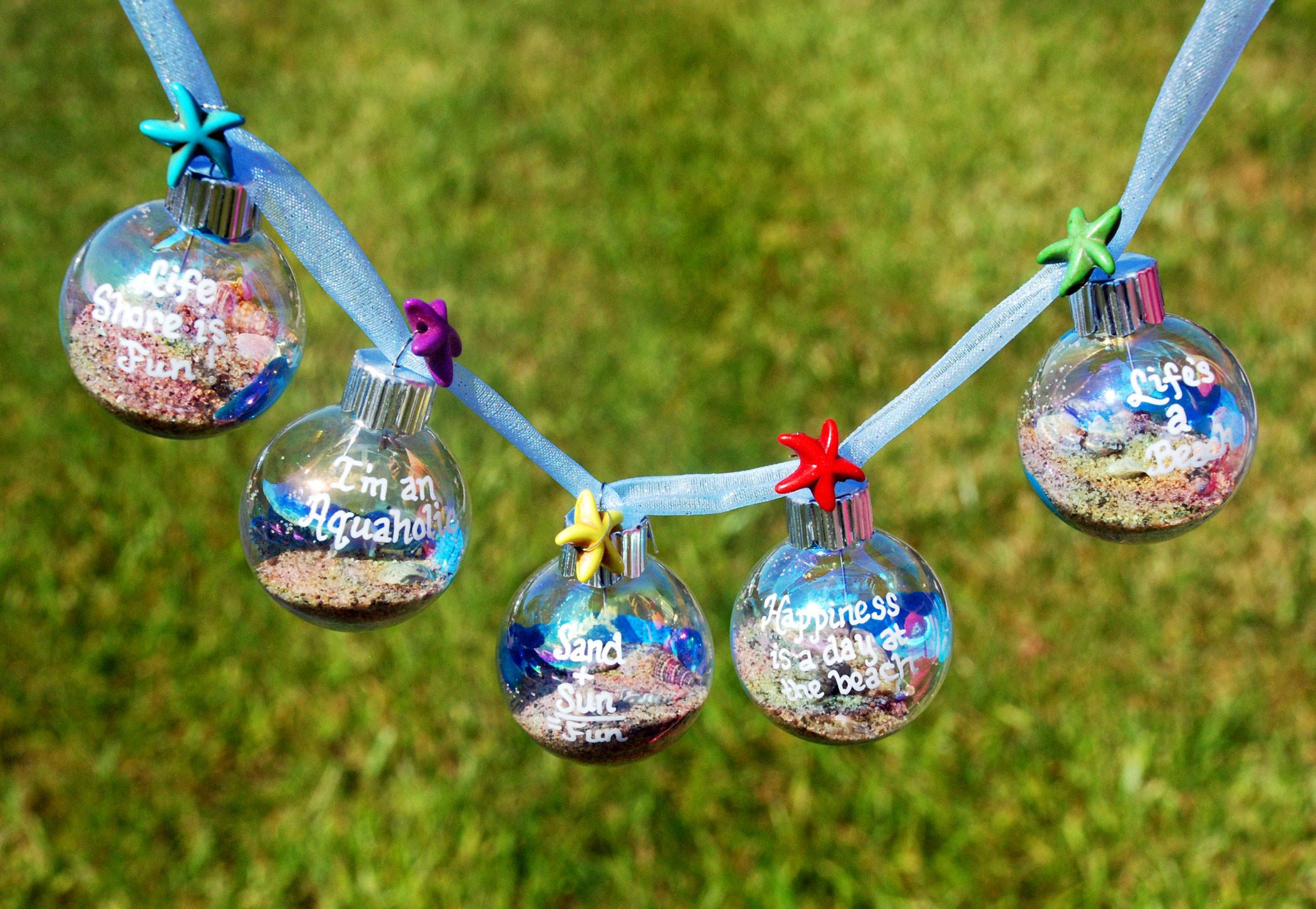 Decorate Your Beach Themed Christmas Tree Ornament
