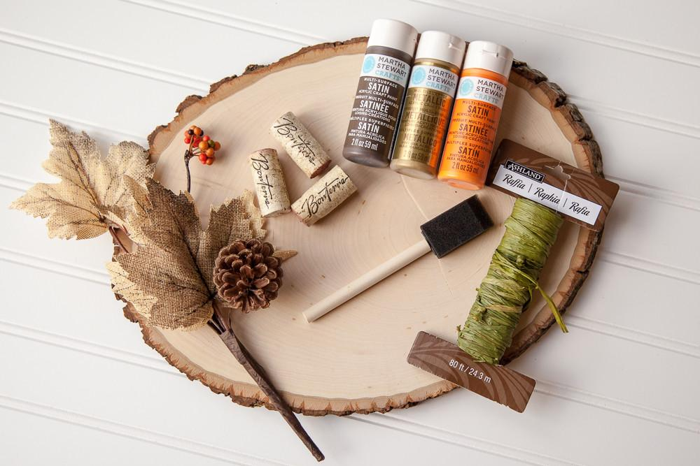 Decorate Your Outdoor Space Fall Wood Slice Diy