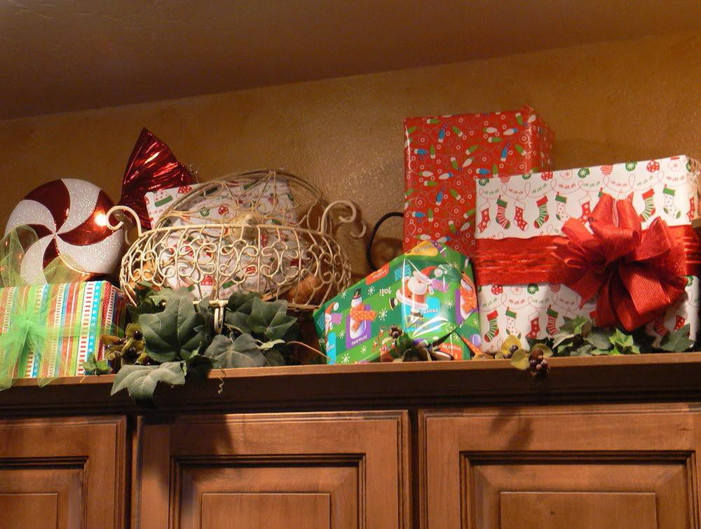 Decorating Above Kitchen Cabinets Christmas Home