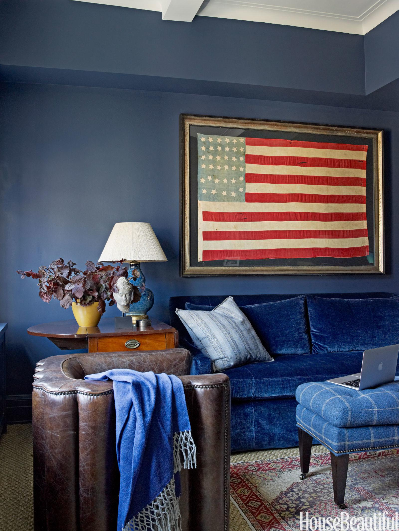 Decorating Blue Brown Family Room Ideas Wood
