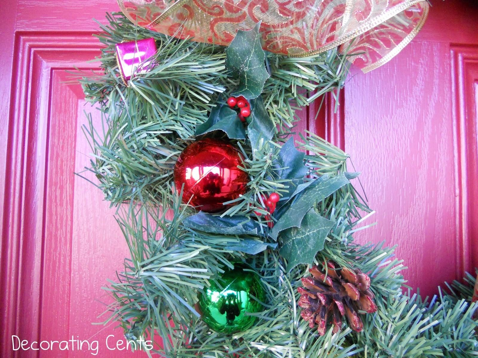Decorating Cents Ornament Wreath