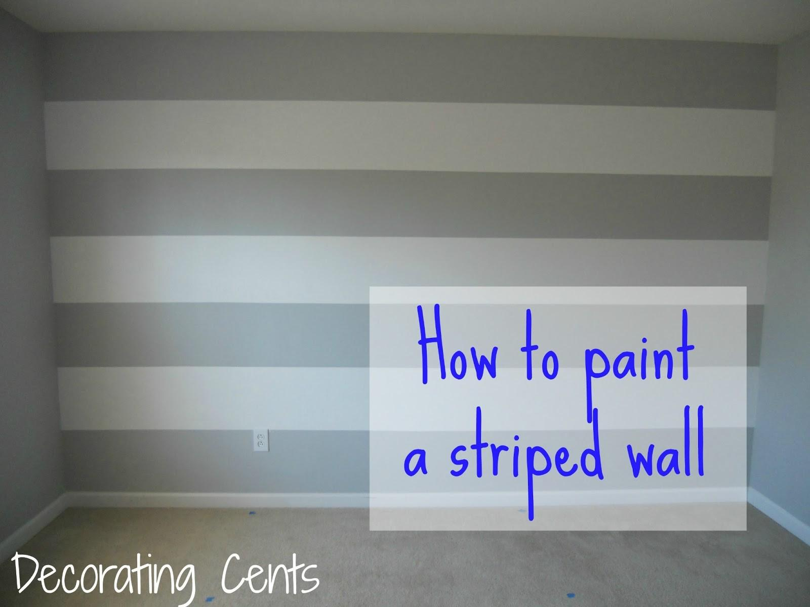 Decorating Cents Painting Striped Wall