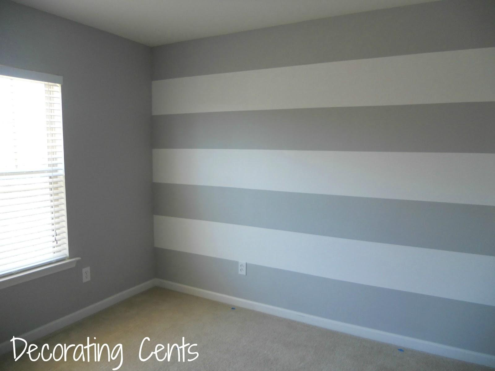Decorating Cents Painting Striped Wall Arafen