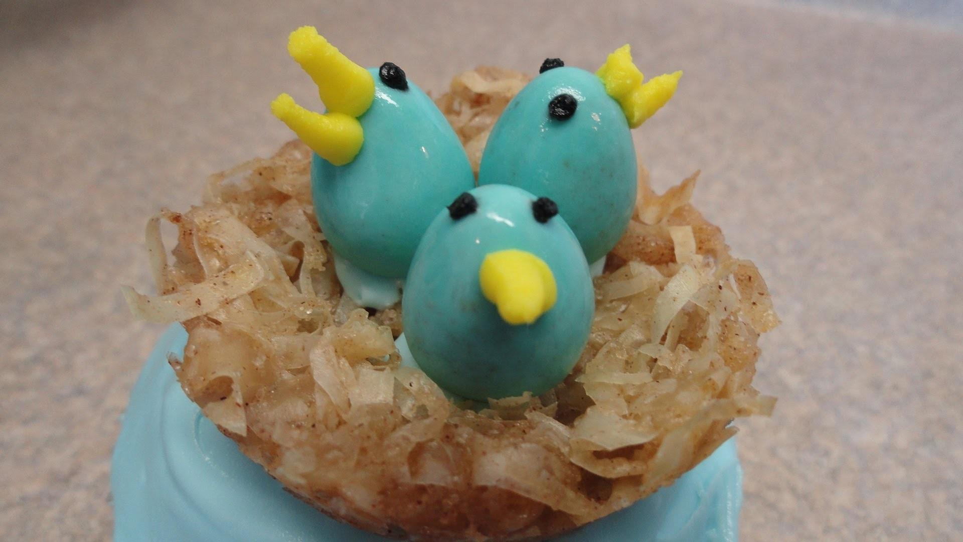 Decorating Cupcakes Easter Spring Bird Nests