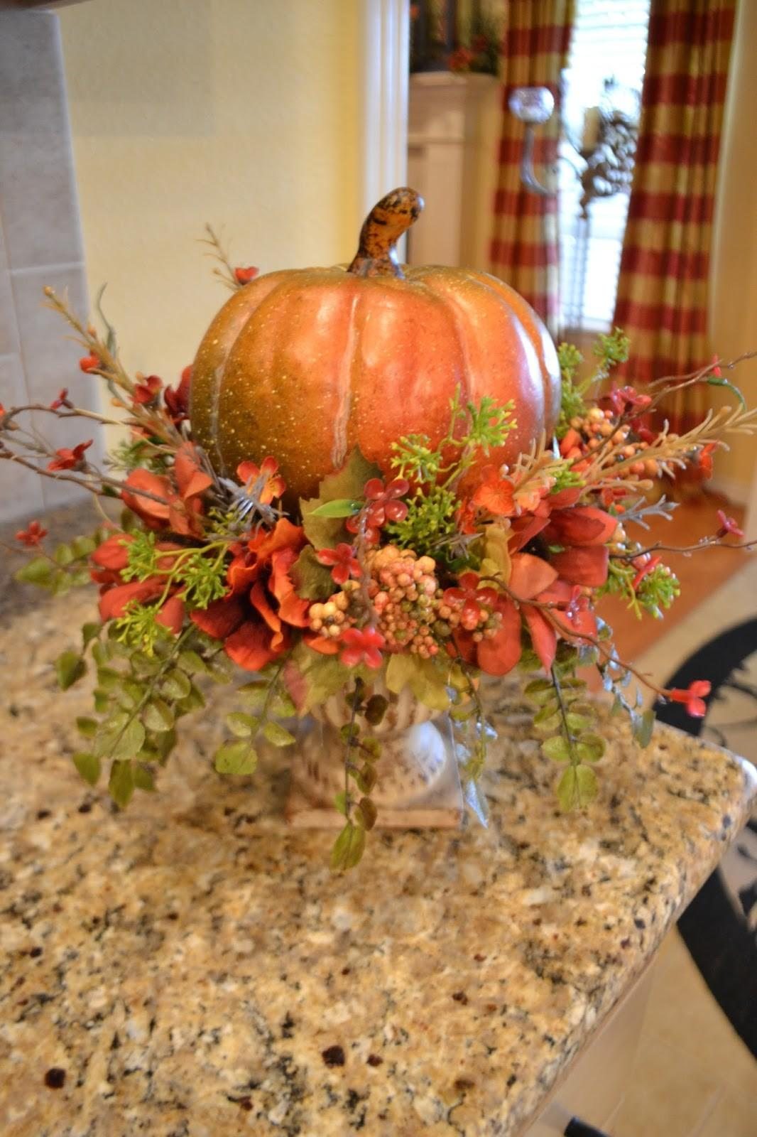 Decorating Fall Fabric Pumpkins