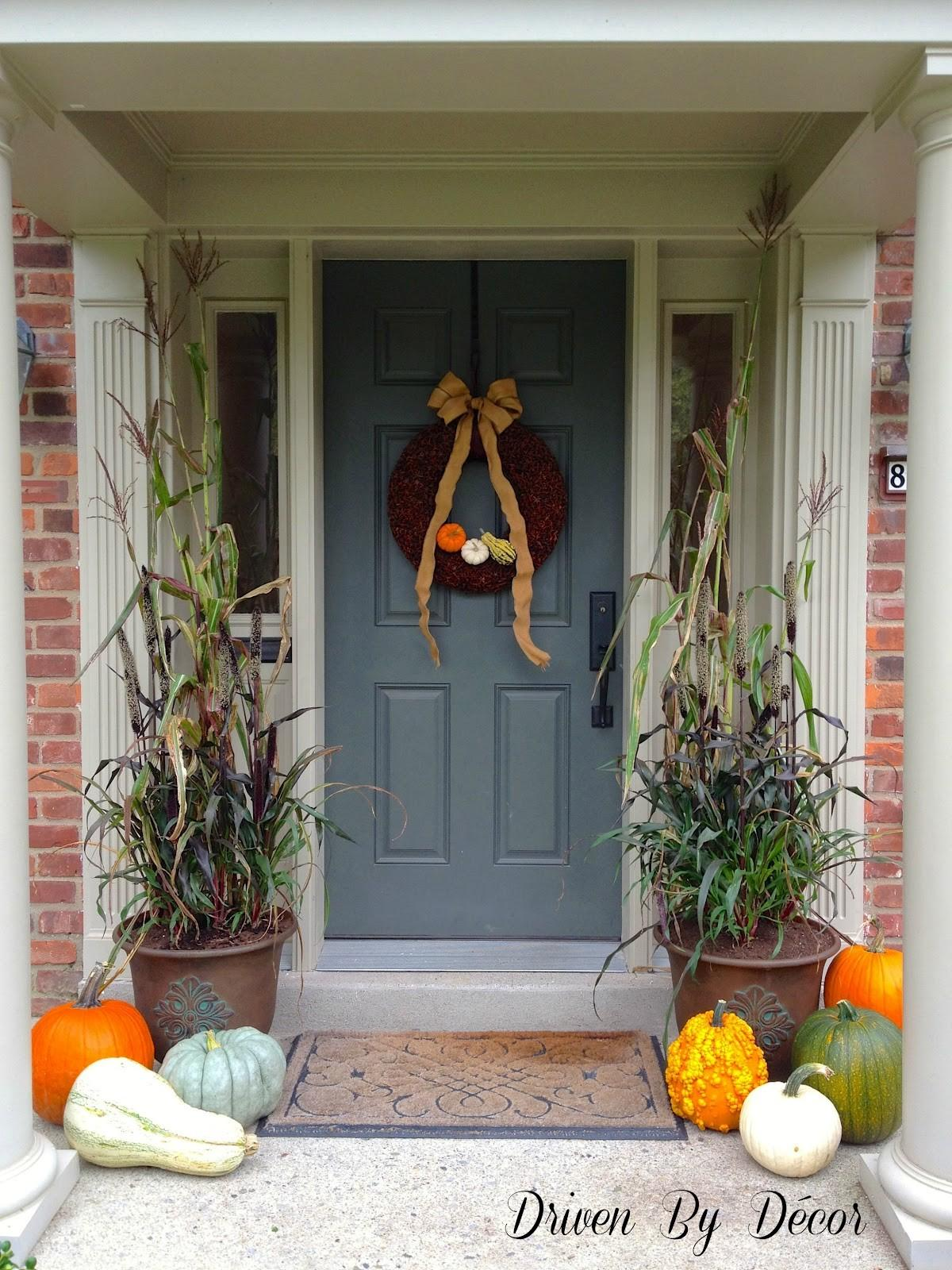 Decorating Front Porch Fall Driven Decor