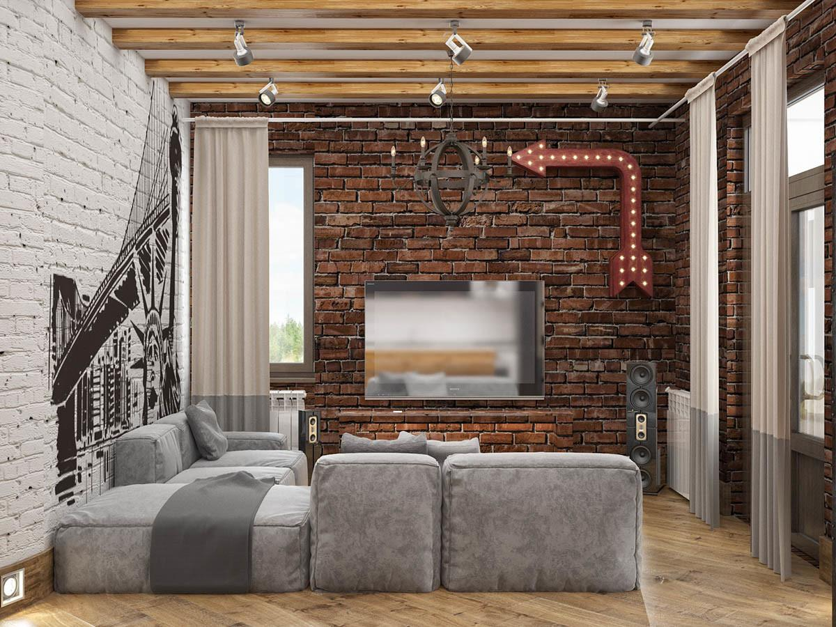 Decorating Ideas Industrial Style Home Exposed Brick