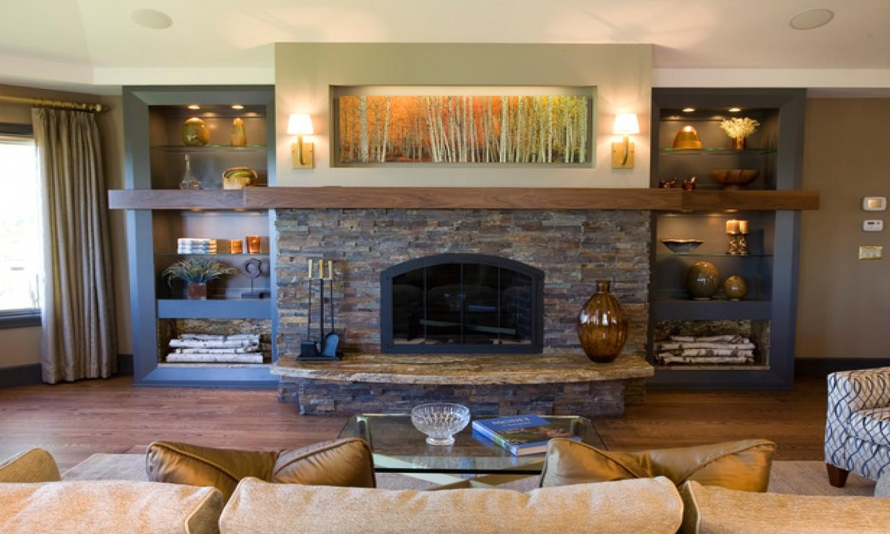 Decorating Ideas Living Room Stone Fireplace