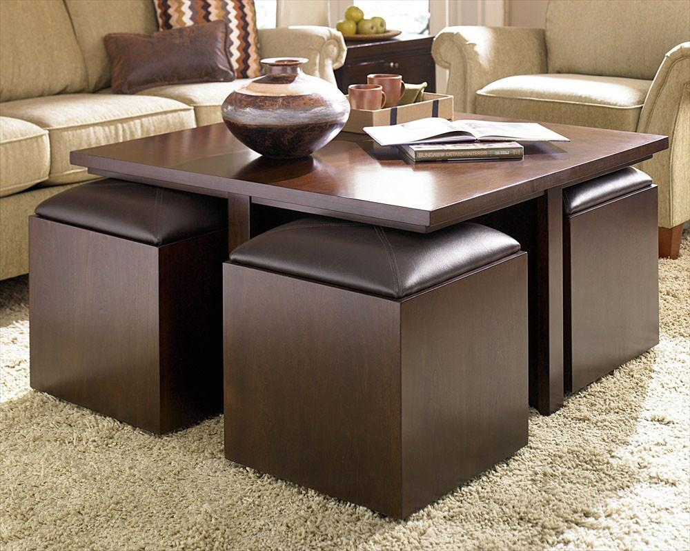 Decorating Living Room Cool Ottoman Coffee Table