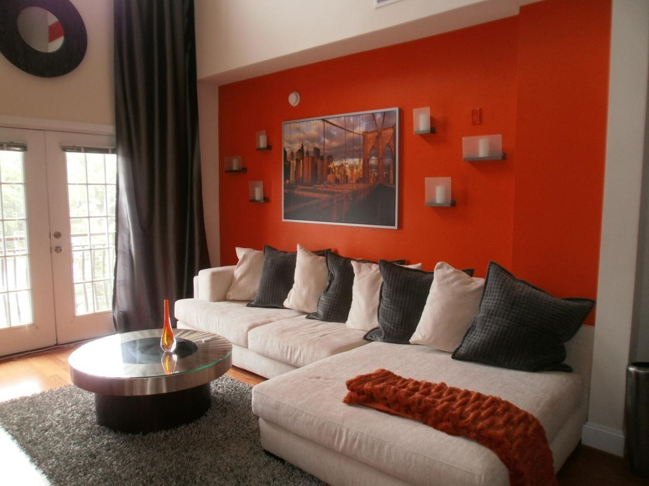 Decorating Living Room Red Accent Wall