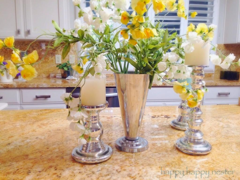 Decorating Pottery Barn Style Silk Flowers Happy