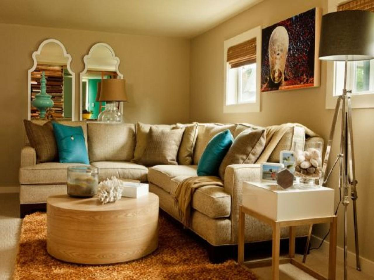 Decorating Turquoise Brown Living Room