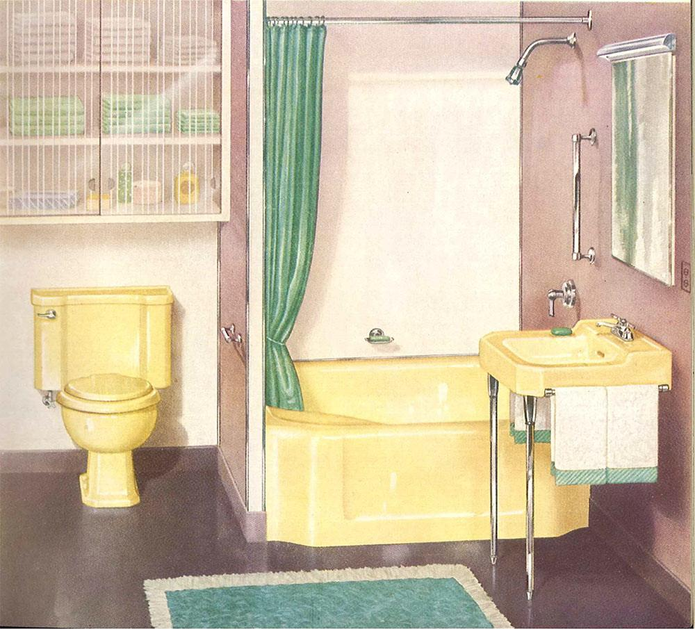 Decorating Yellow Bathroom Color History Ideas