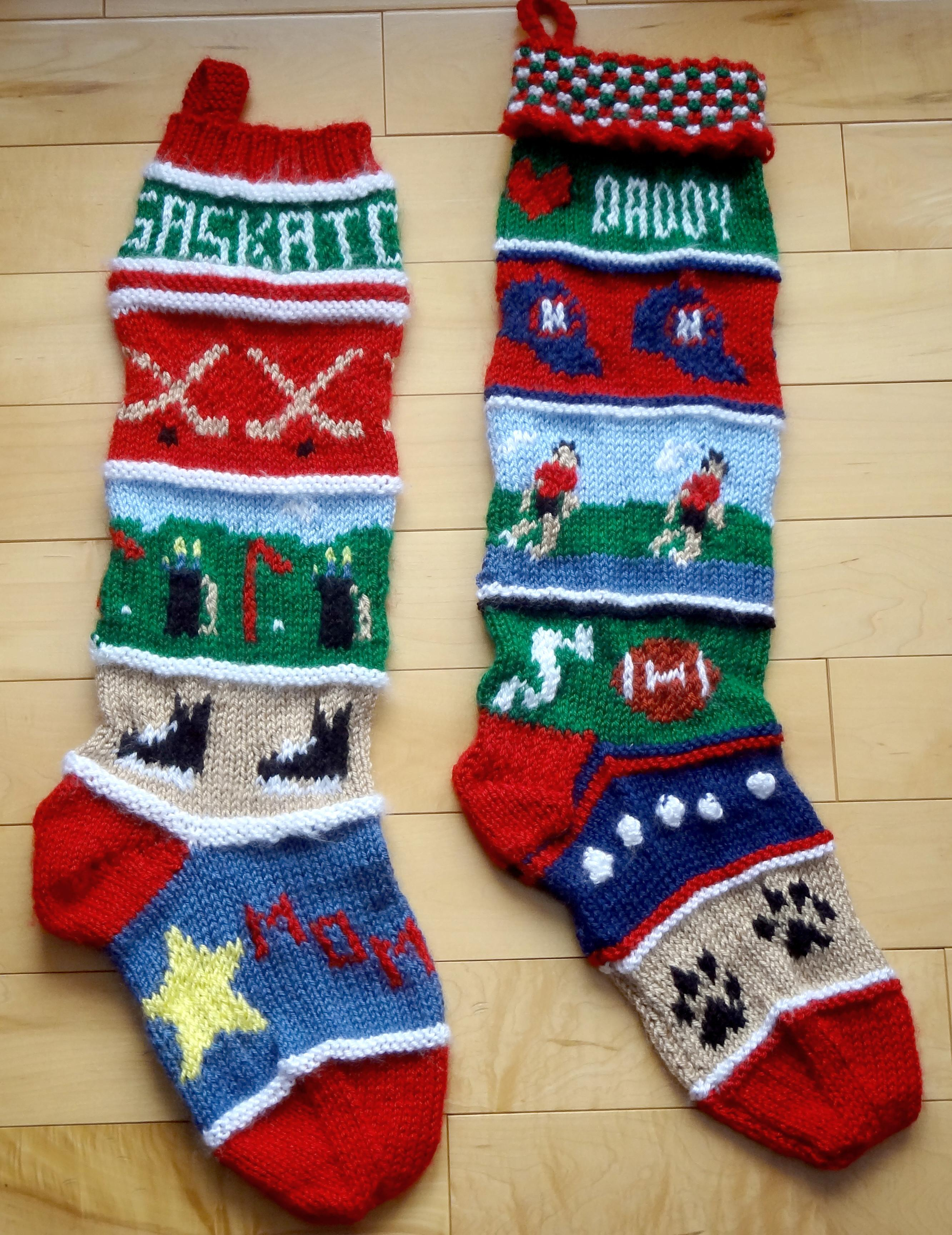 Decoration Beautiful Knitted Christmas Stockings Home