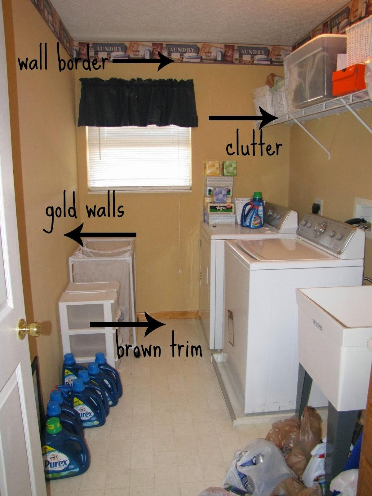 Decoration Diy Small Laundry Room Makeover Light Gold