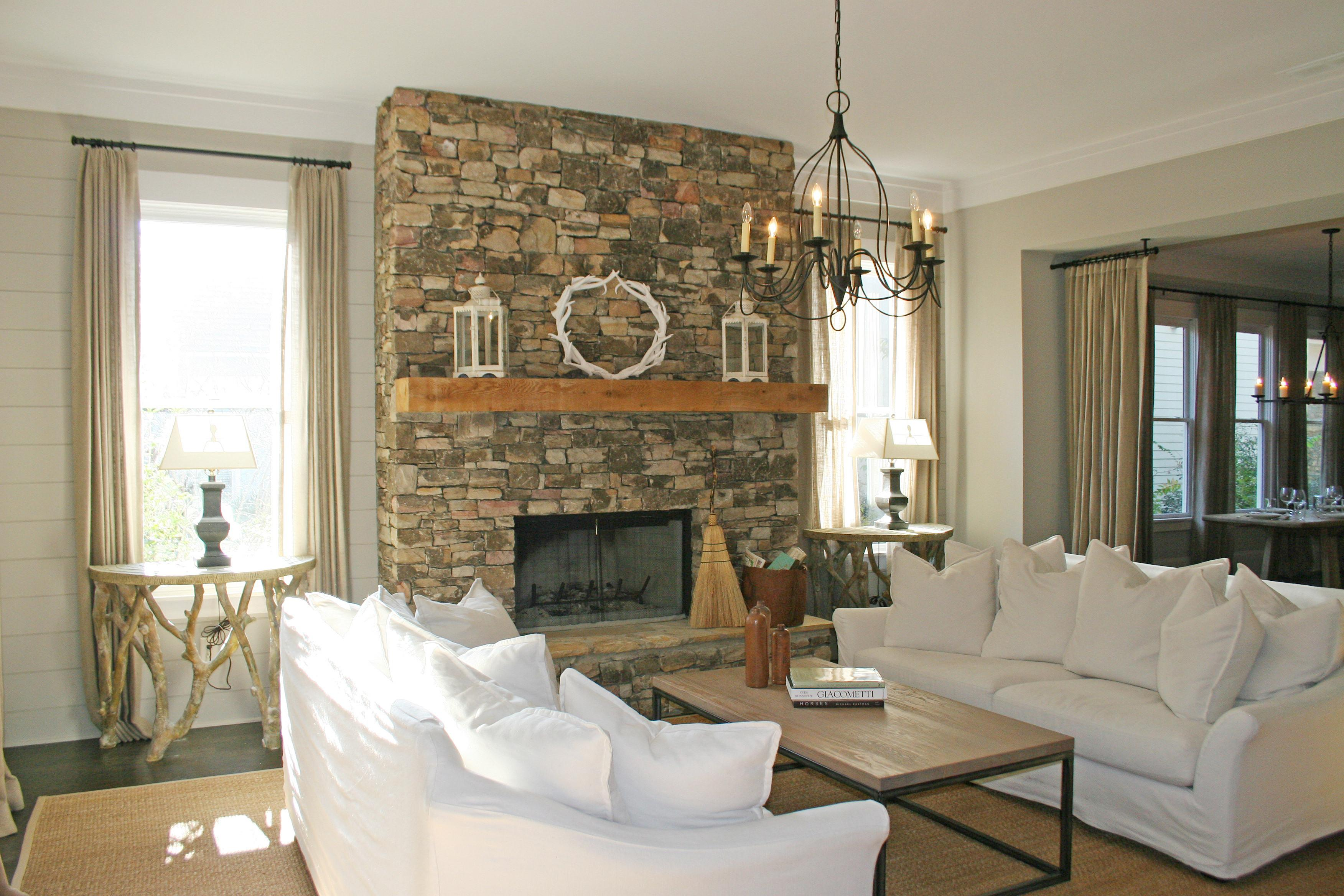 Decoration Stunning Living Rooms Stacked Stone