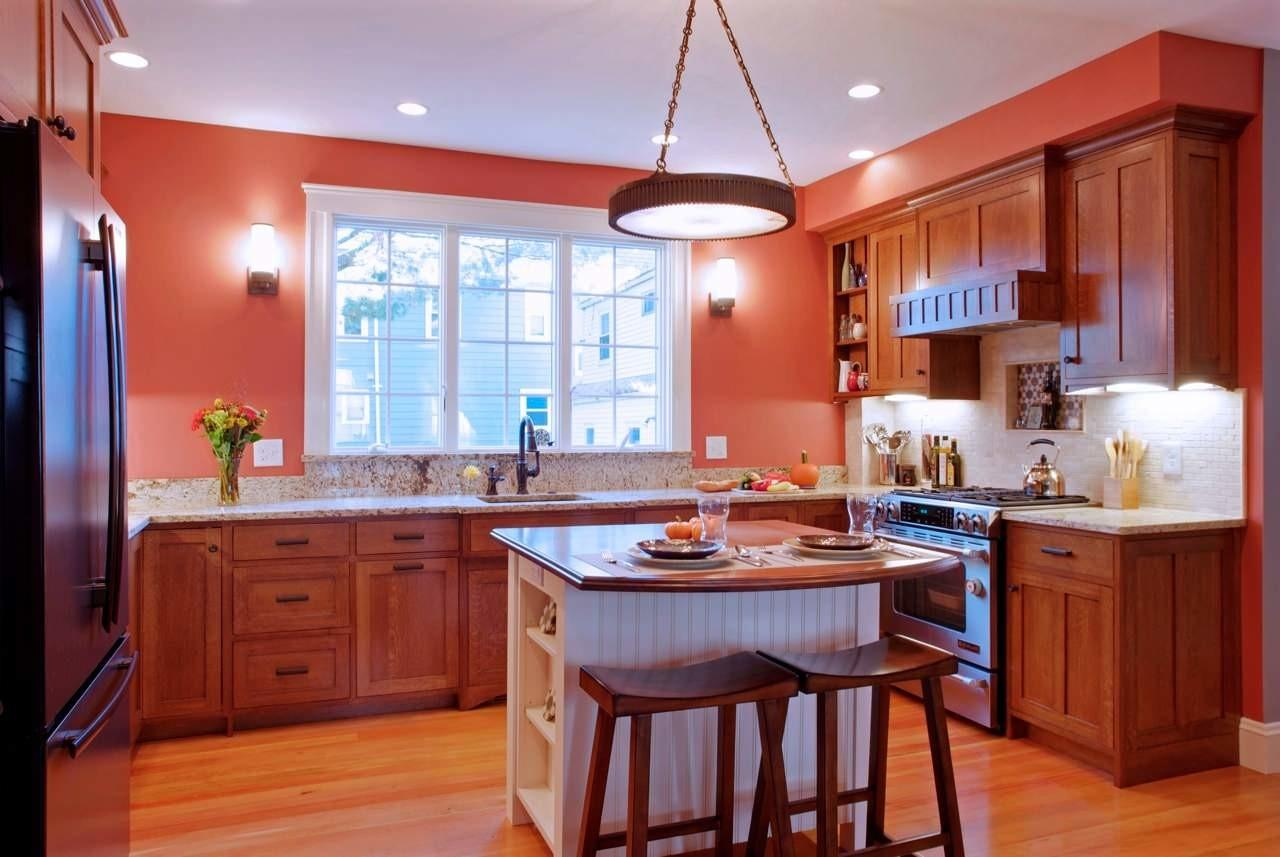 Decoration Traditional Orange Kitchen Small