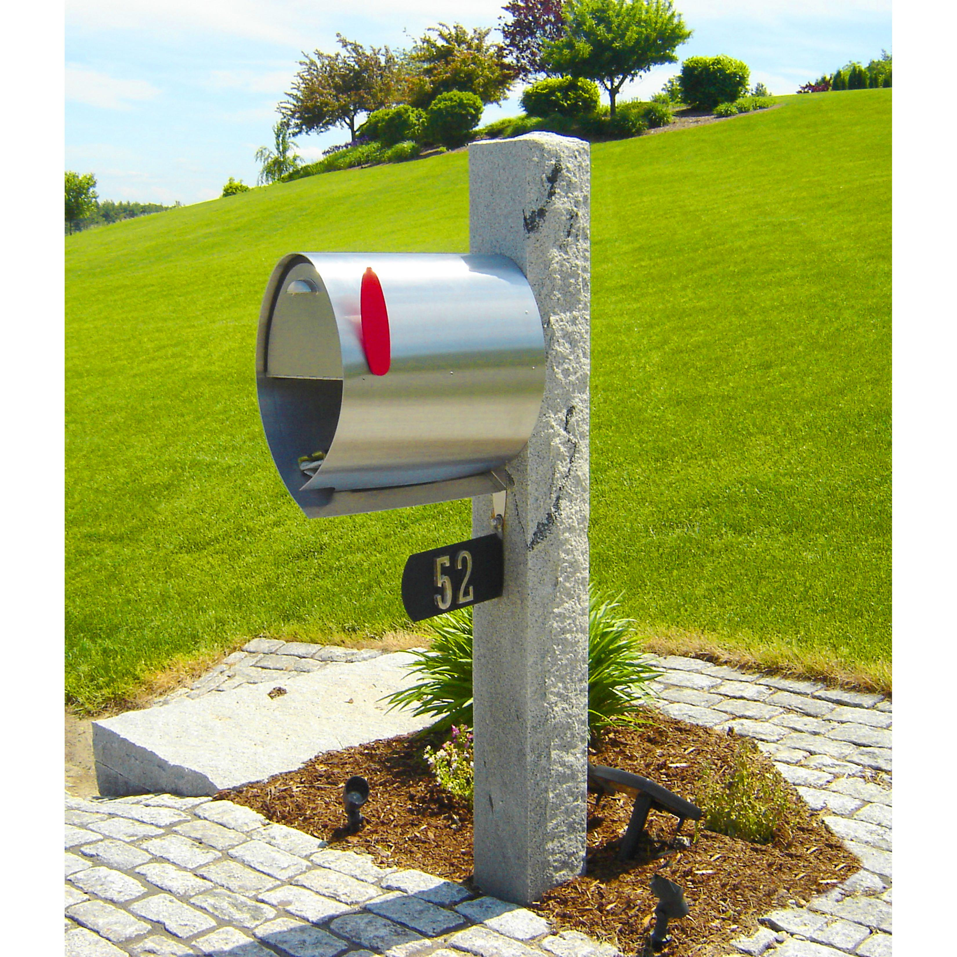 Decorations Chrome Creative Mailbox Stands Garden