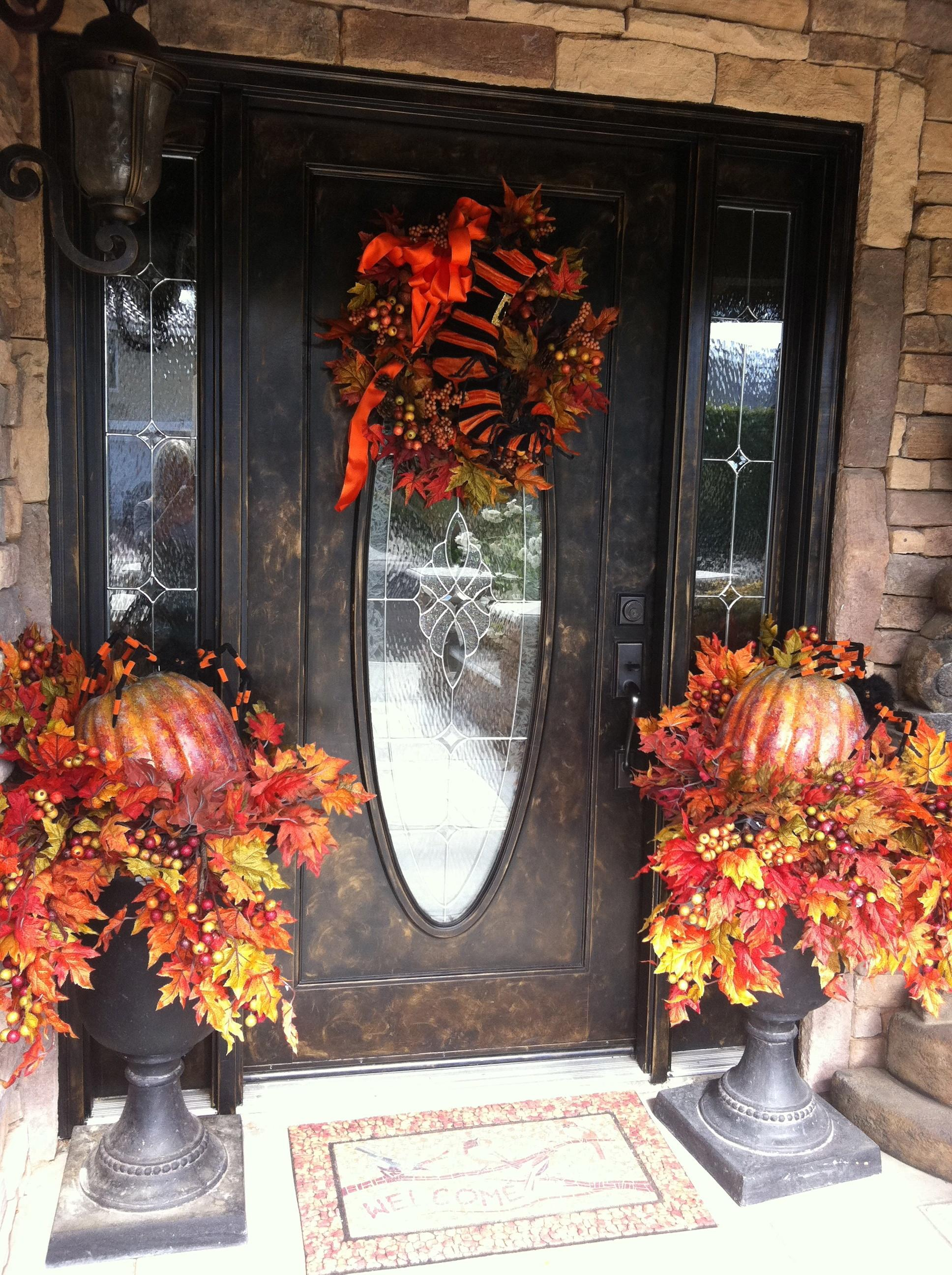 Decorations Decorative Front Door Wreaths Easy