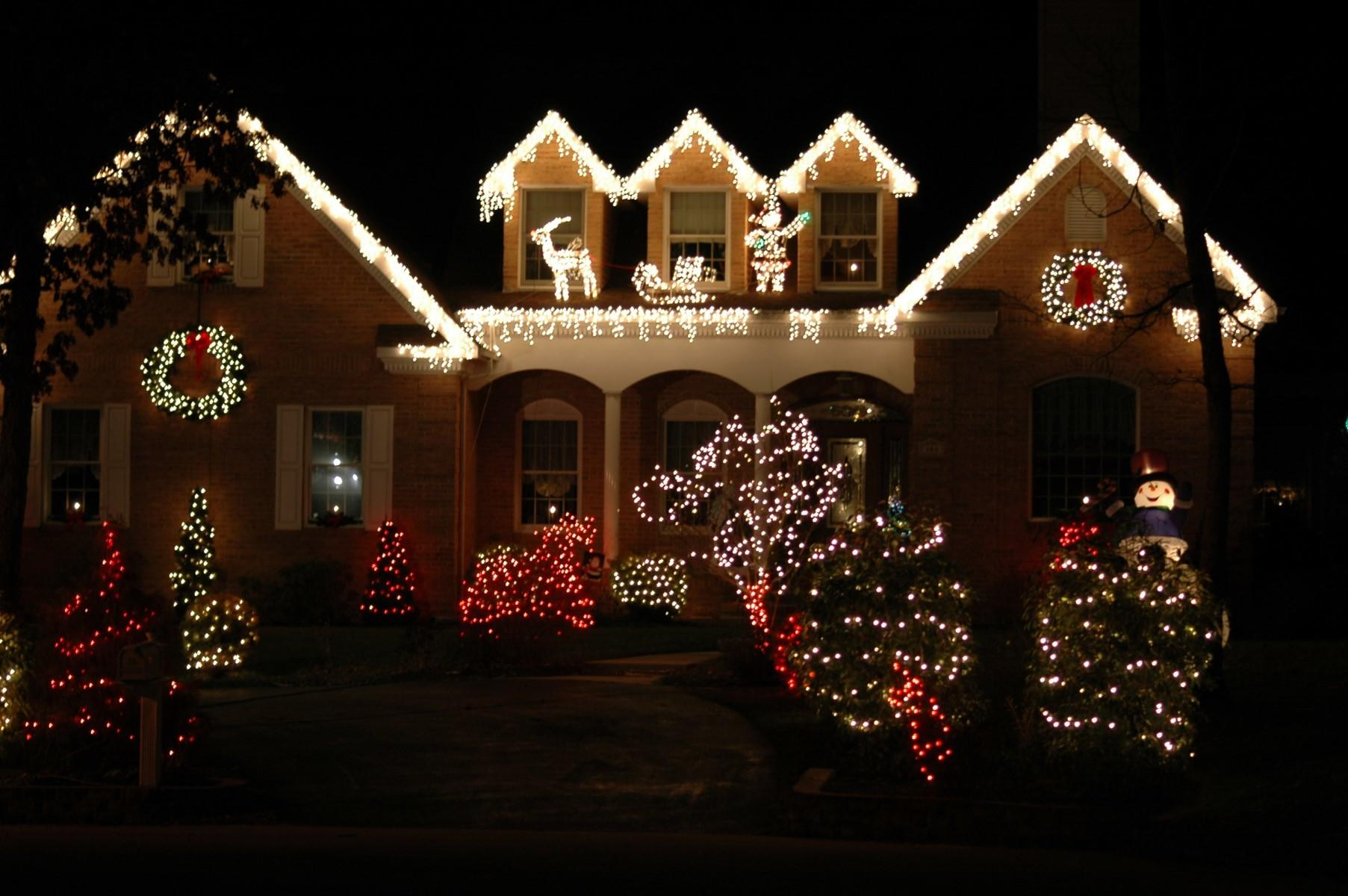 Decorations Exterior Outside Christmas Lights Ideas