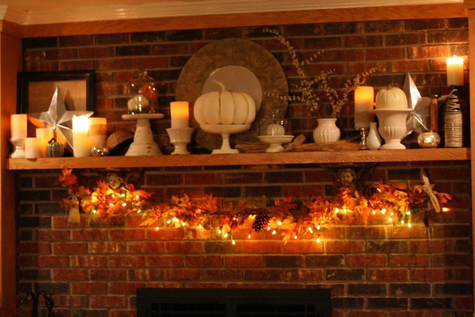 Decorations Farmhouse Style Thanksgiving Mantel Decor
