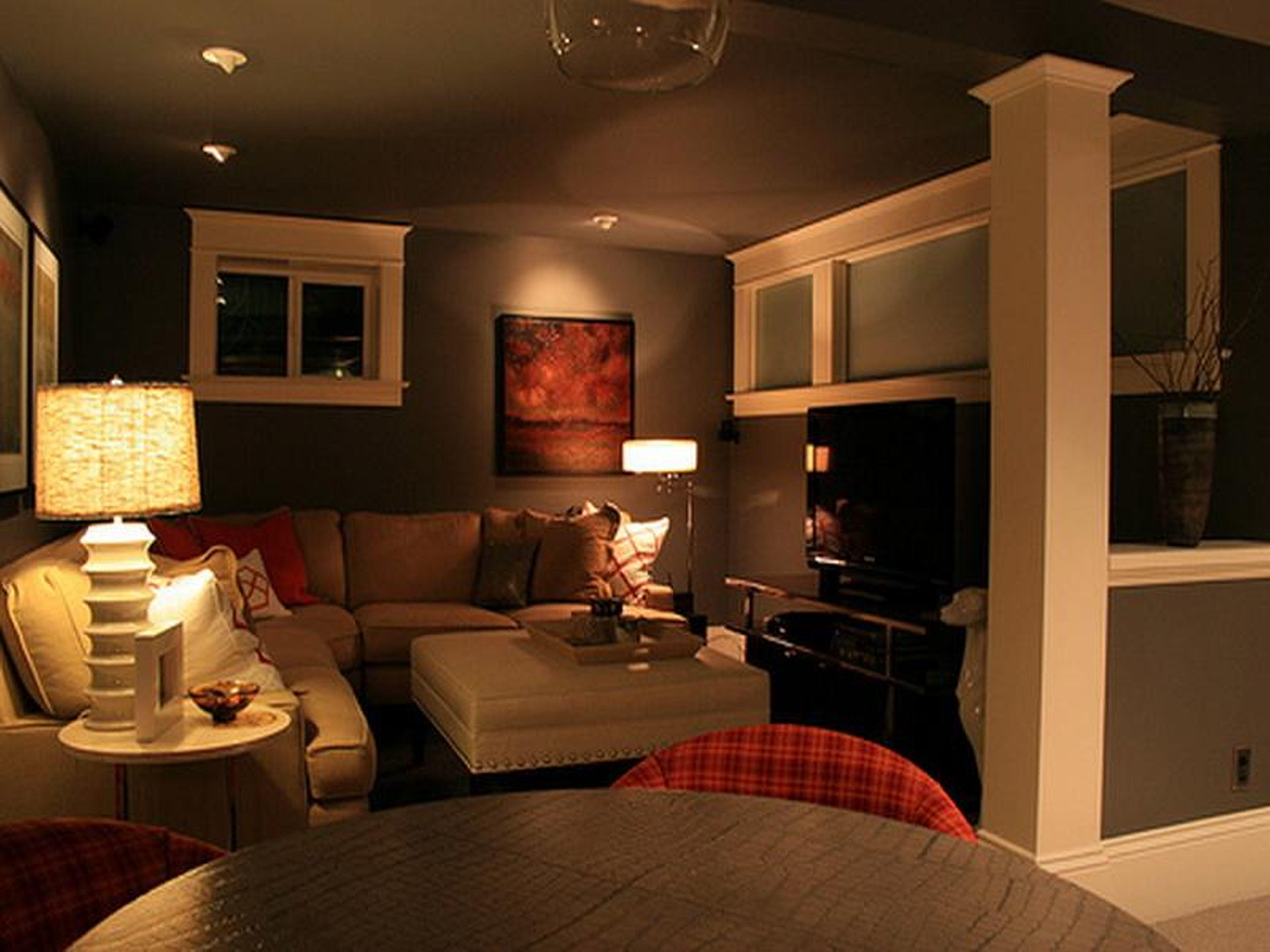 Decorations Fresh Cool Basement Ideas Small House