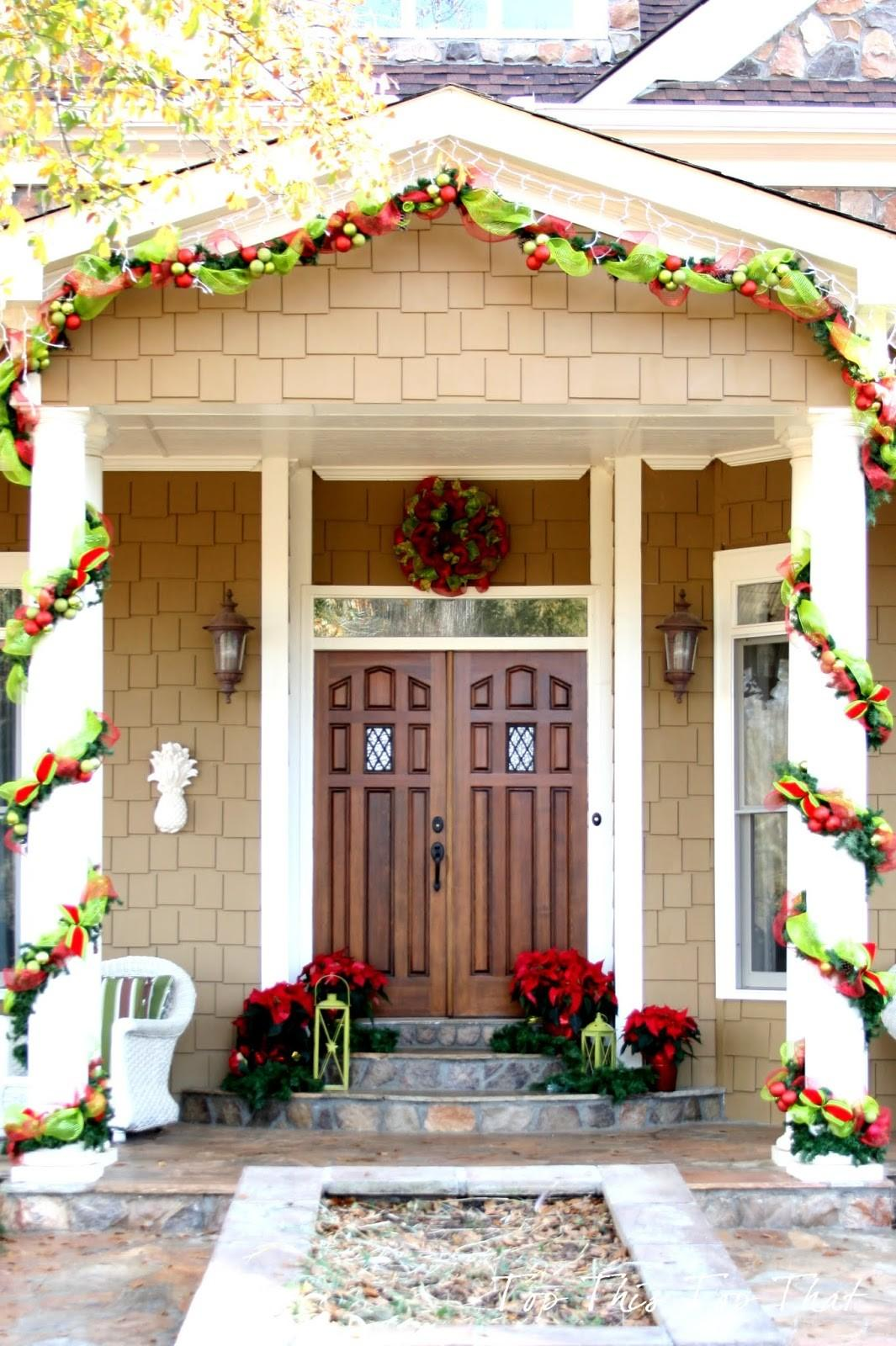 Decorations Green Red Fabrics Wreath Christmas Home
