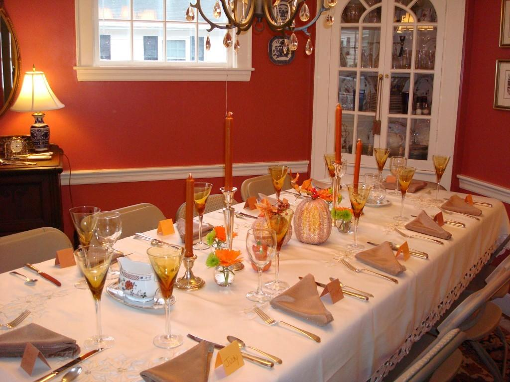 Decorations Simple Easy Seat Thanksgiving Table