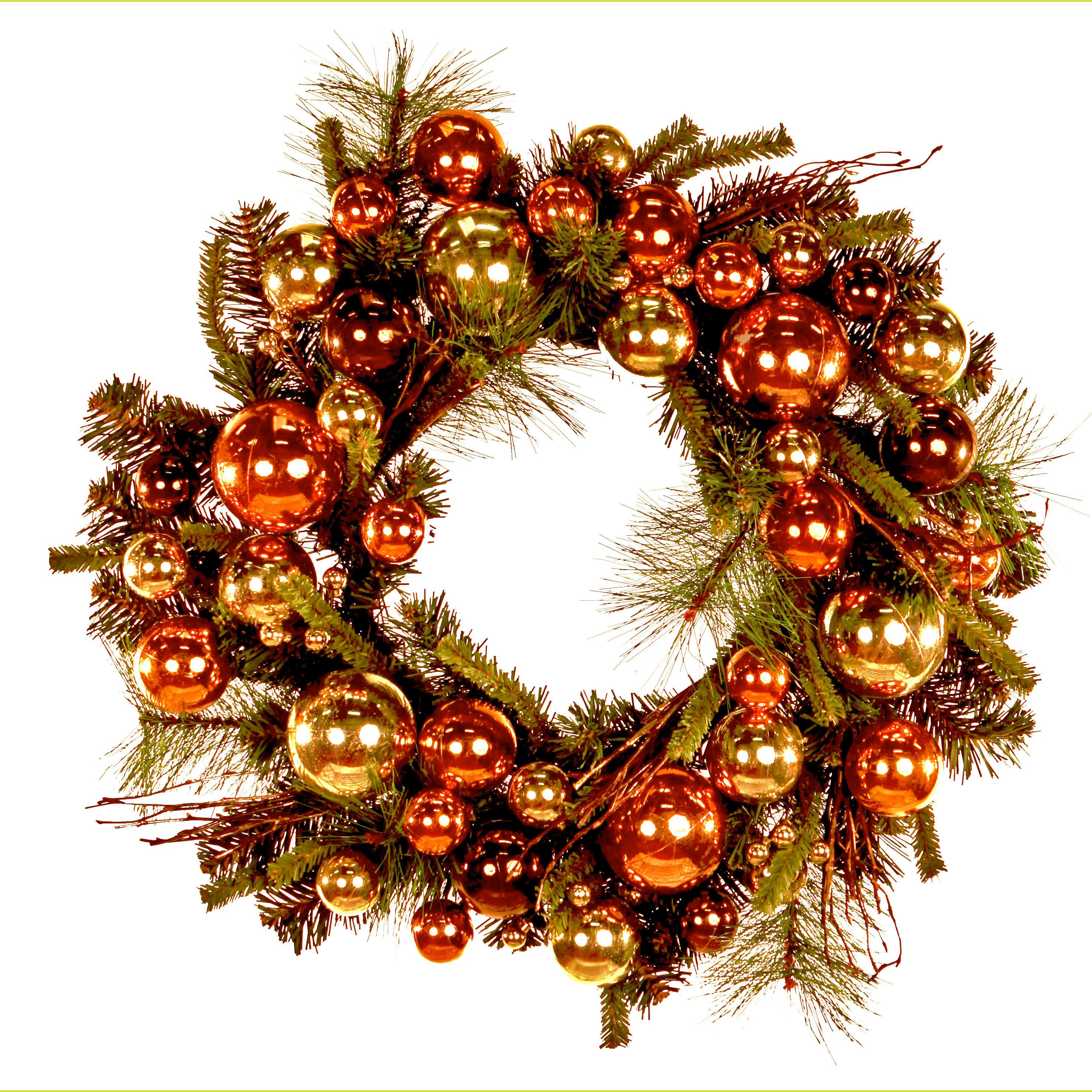 Decorations Sparkling Christmas Wreath Shiny Xmas