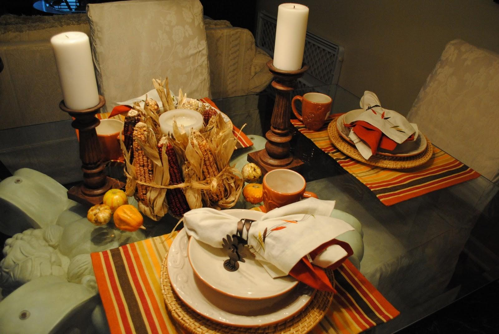 Decorations Thanksgiving Tablescape Candles