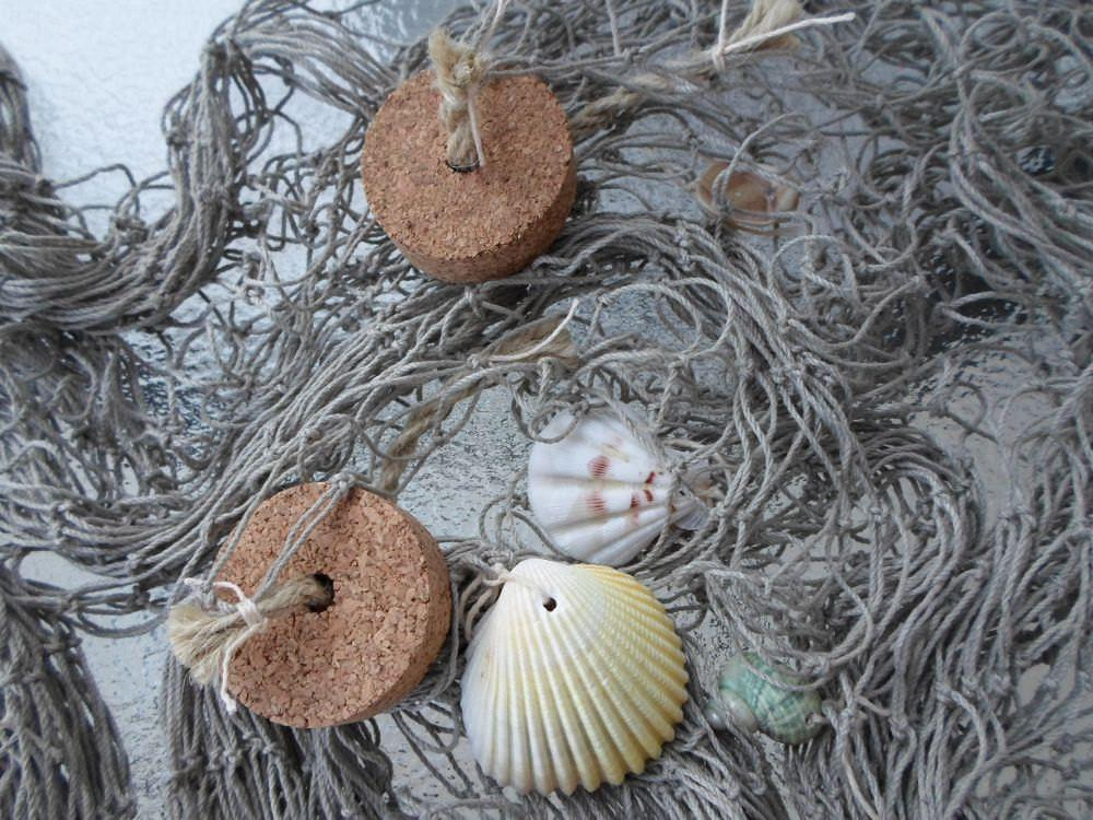 Decorative Fishing Shells Cork Floats Fish
