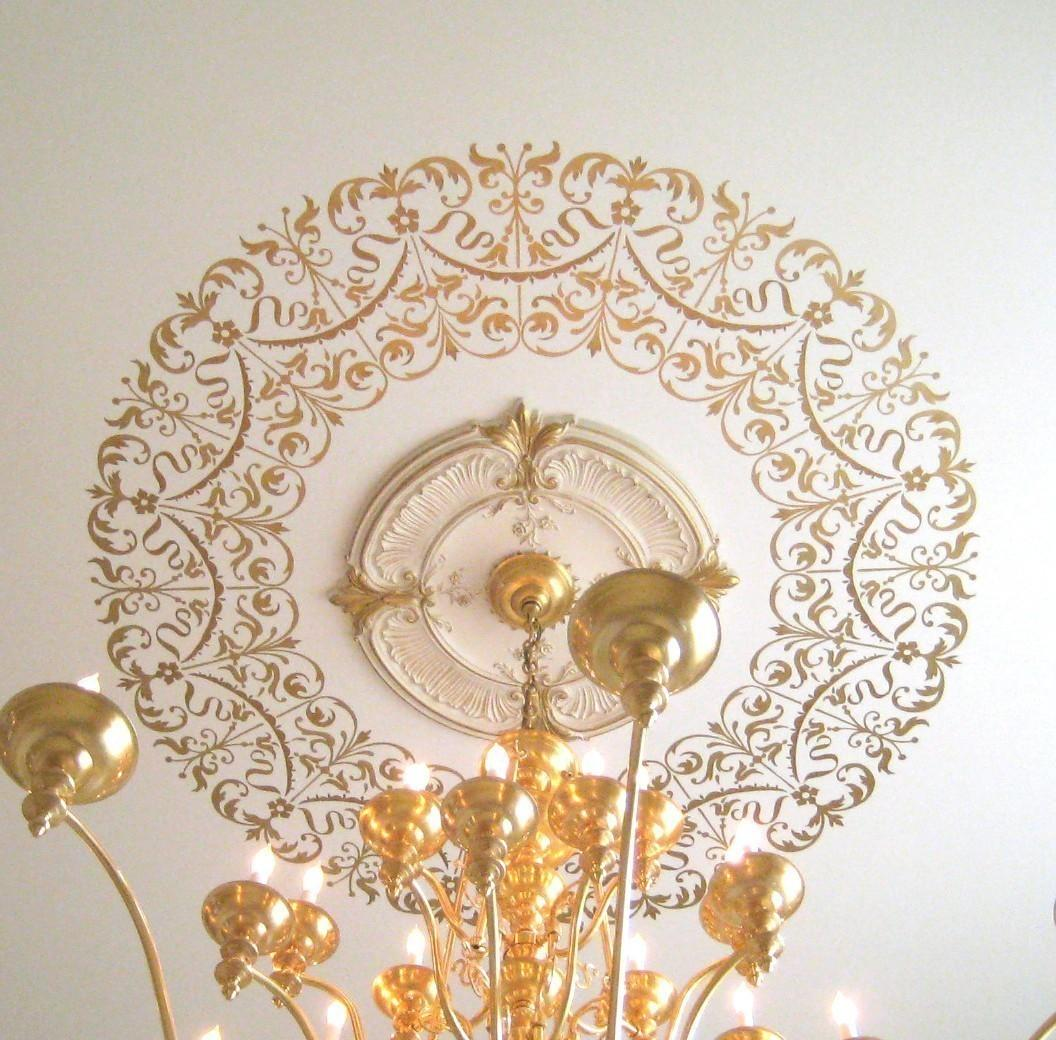 Decorative Stencil Georgian Ceiling Medallion Diy Home