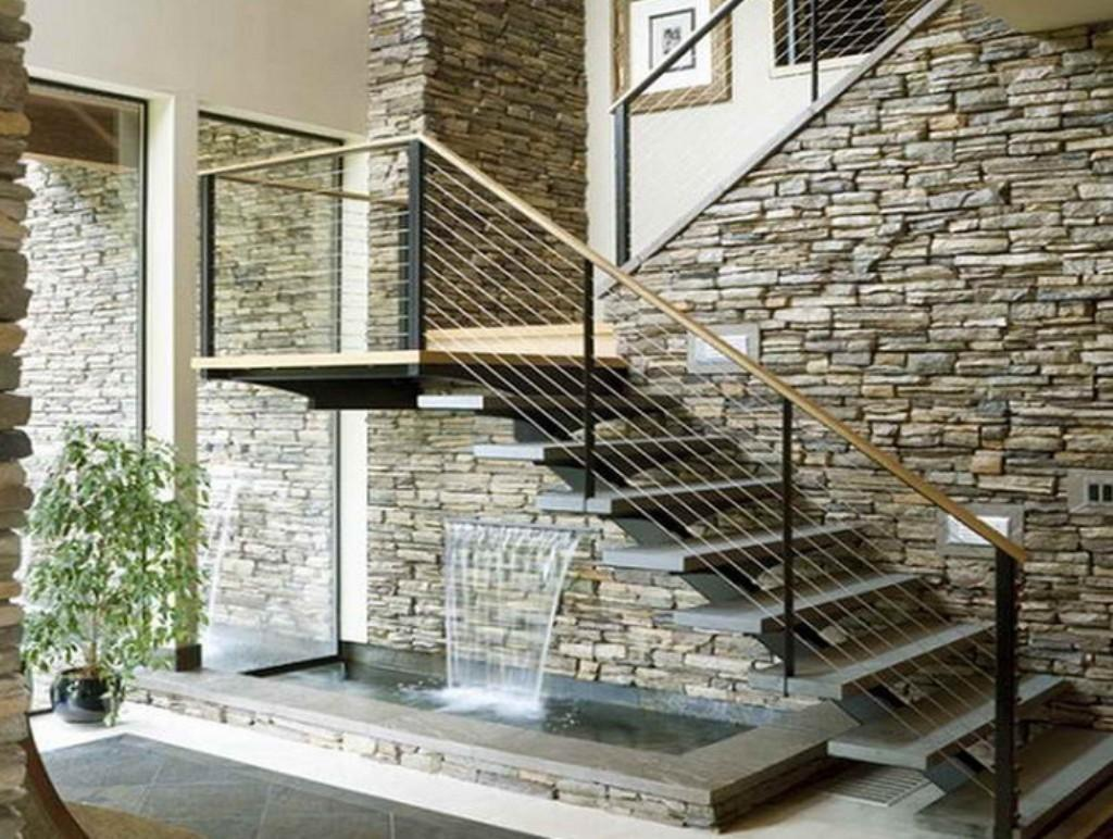 Decorative Stone Wall Decor Contemporary Metal