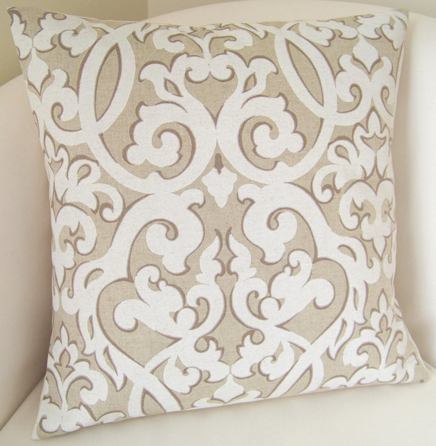 Decorative Throw Pillow Cover Neutral Cushion Accent