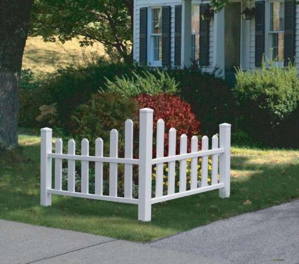 Decorative Vinyl Outdoor Country Corner White Picket Fence