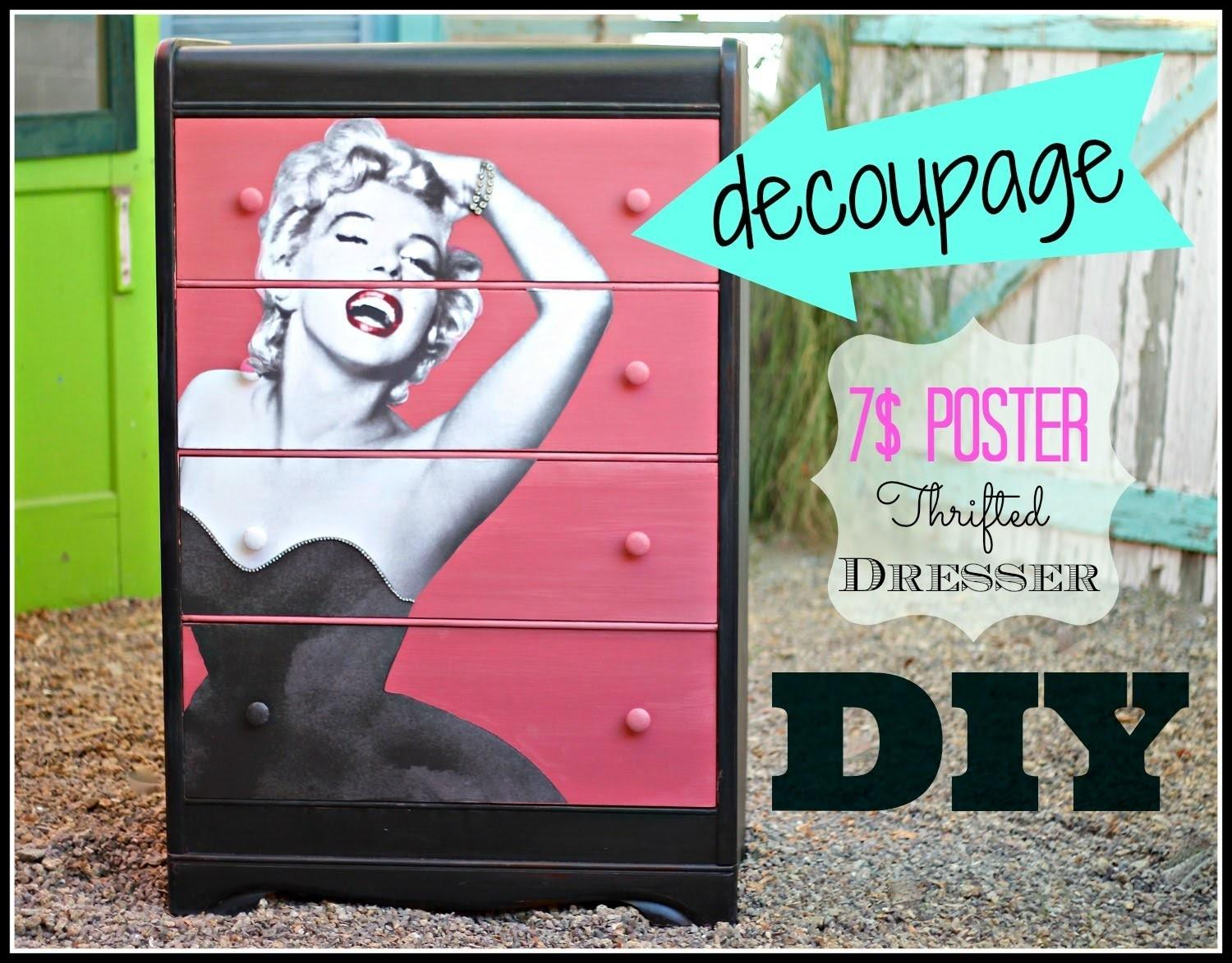 Decoupage Furniture Poster Cece Caldwell