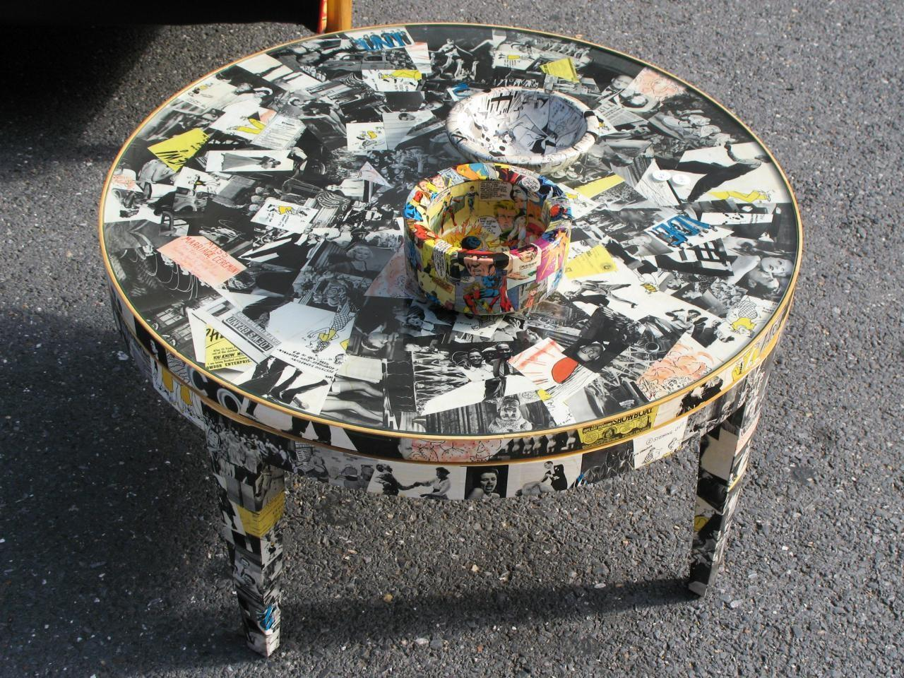 Decoupage Ideas Furniture Easy Crafts Homemade