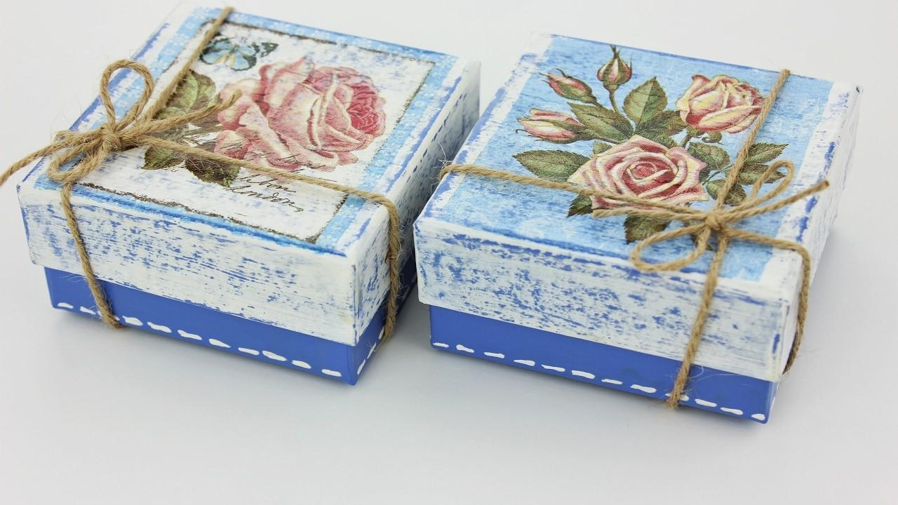 Decoupage Small Boxes Fast Easy Tutorial Diy