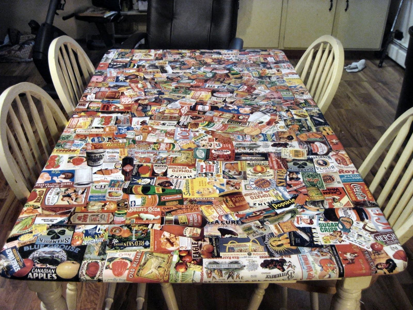 Decoupage Table Top Ideas