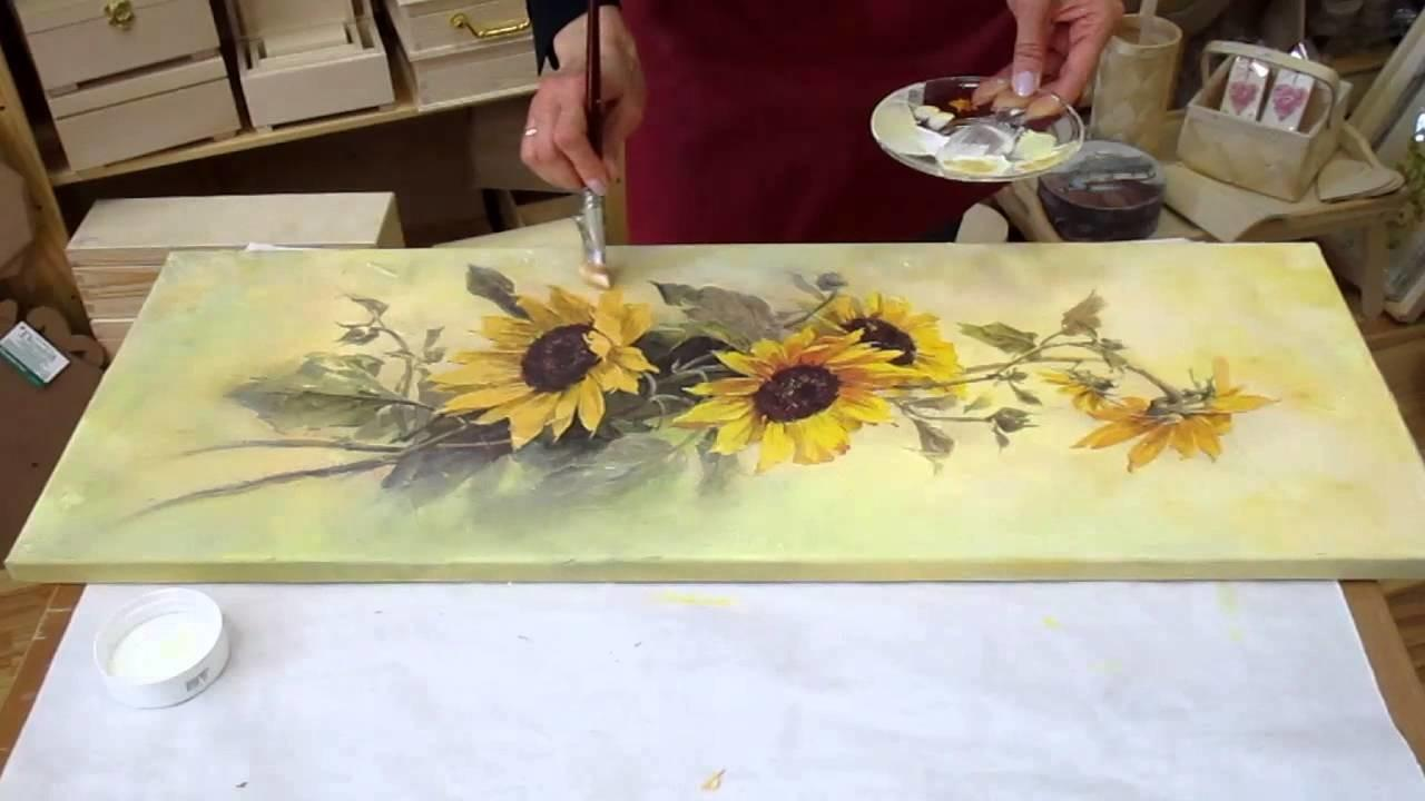 Decoupage Tutorial Diy Canvas Make