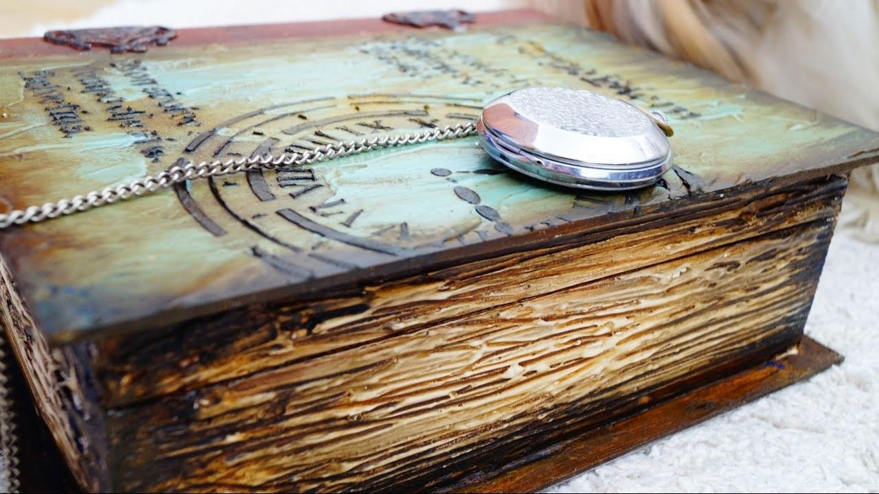 Decoupage Tutorial Vintage Wooden Book