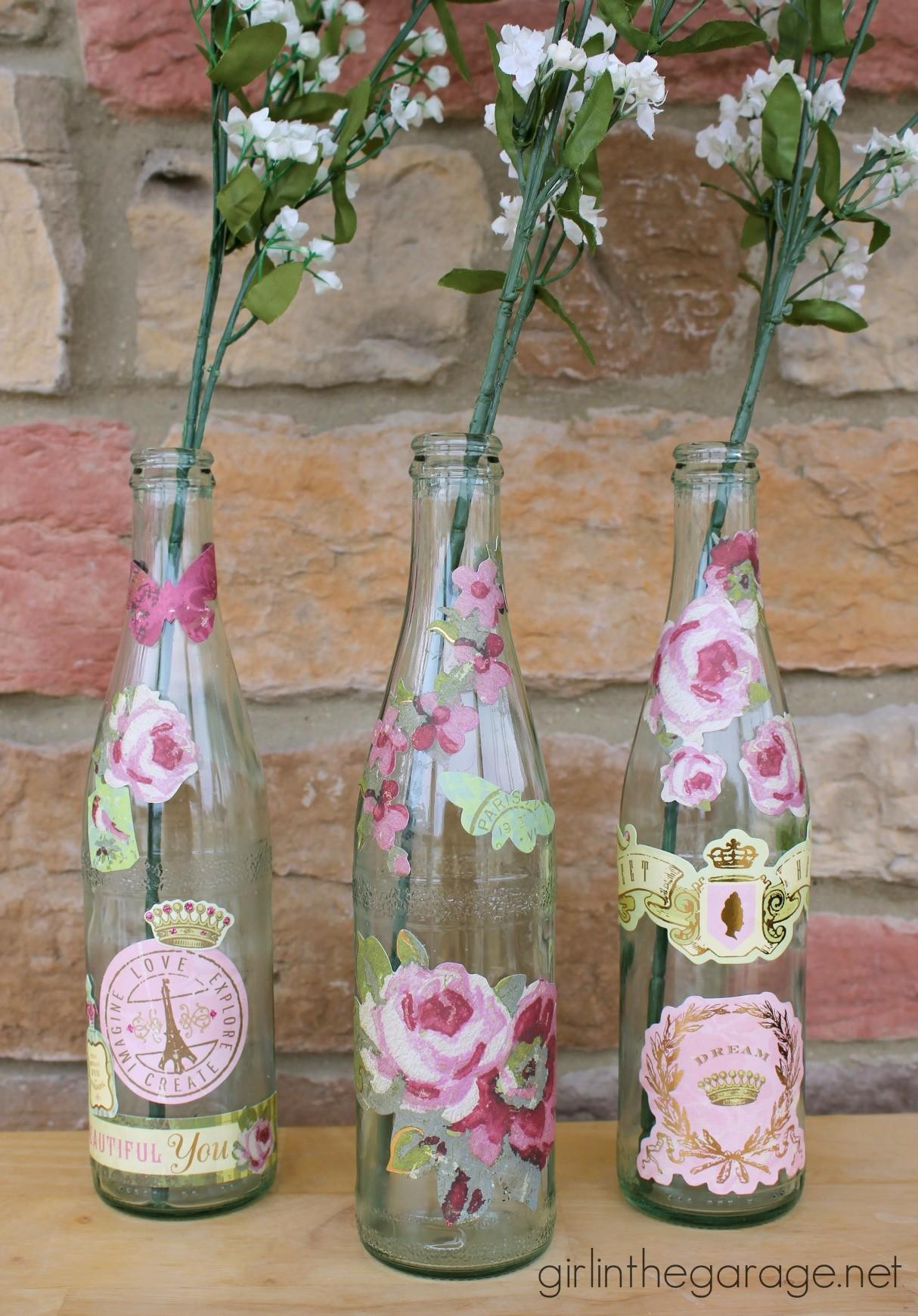 Decoupaged Bottles Spring Plus Coupon