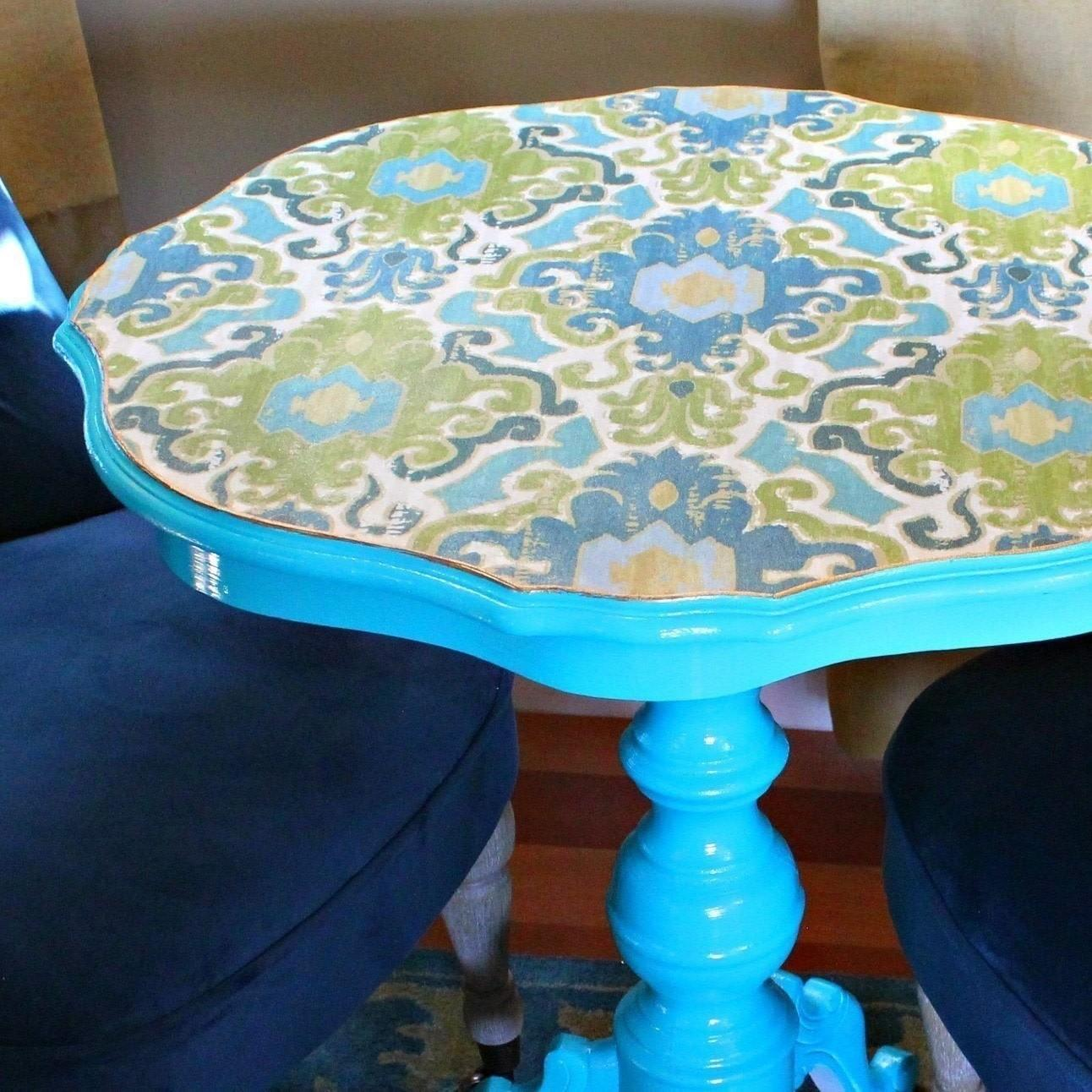 38 Extremely Beautiful Decoupaged Fabric Table Makeover That Look Like From A Fairy Tale For 2021 Photo Examples Decoratorist