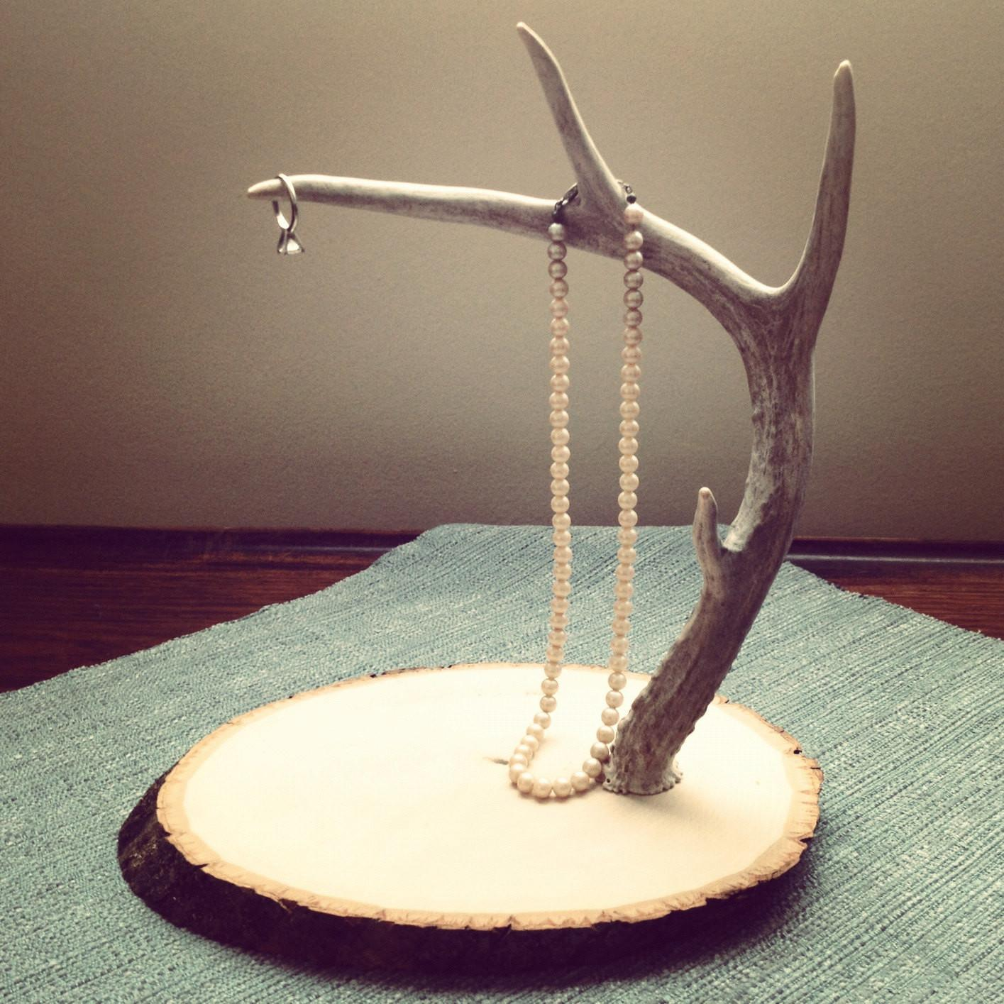 Deer Antler Jewelry Stand Display