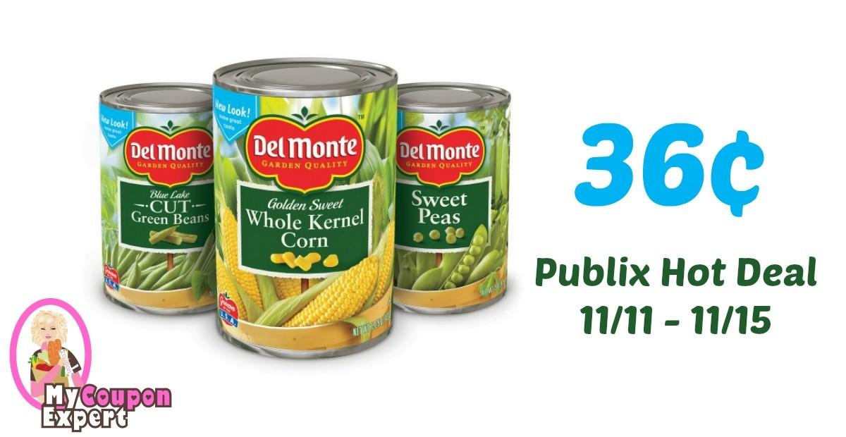 Del Monte Canned Vegetables Only Each After Sale