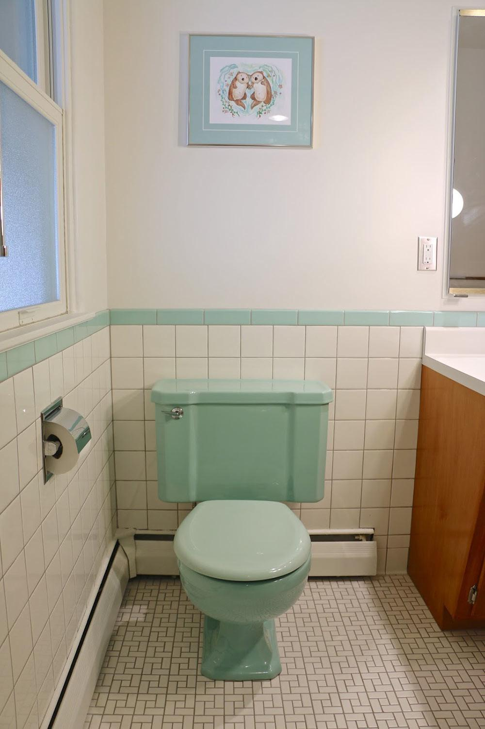 Delectable 1950s Bathroom Remodel Before After