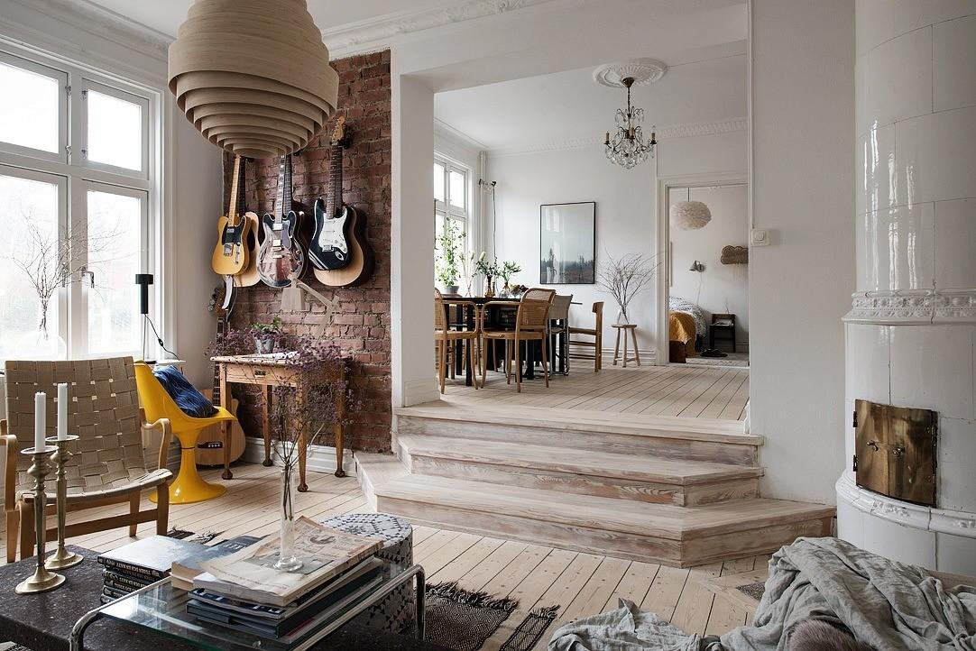 Delightful Swedish Apartment Displaying Efficient Layout