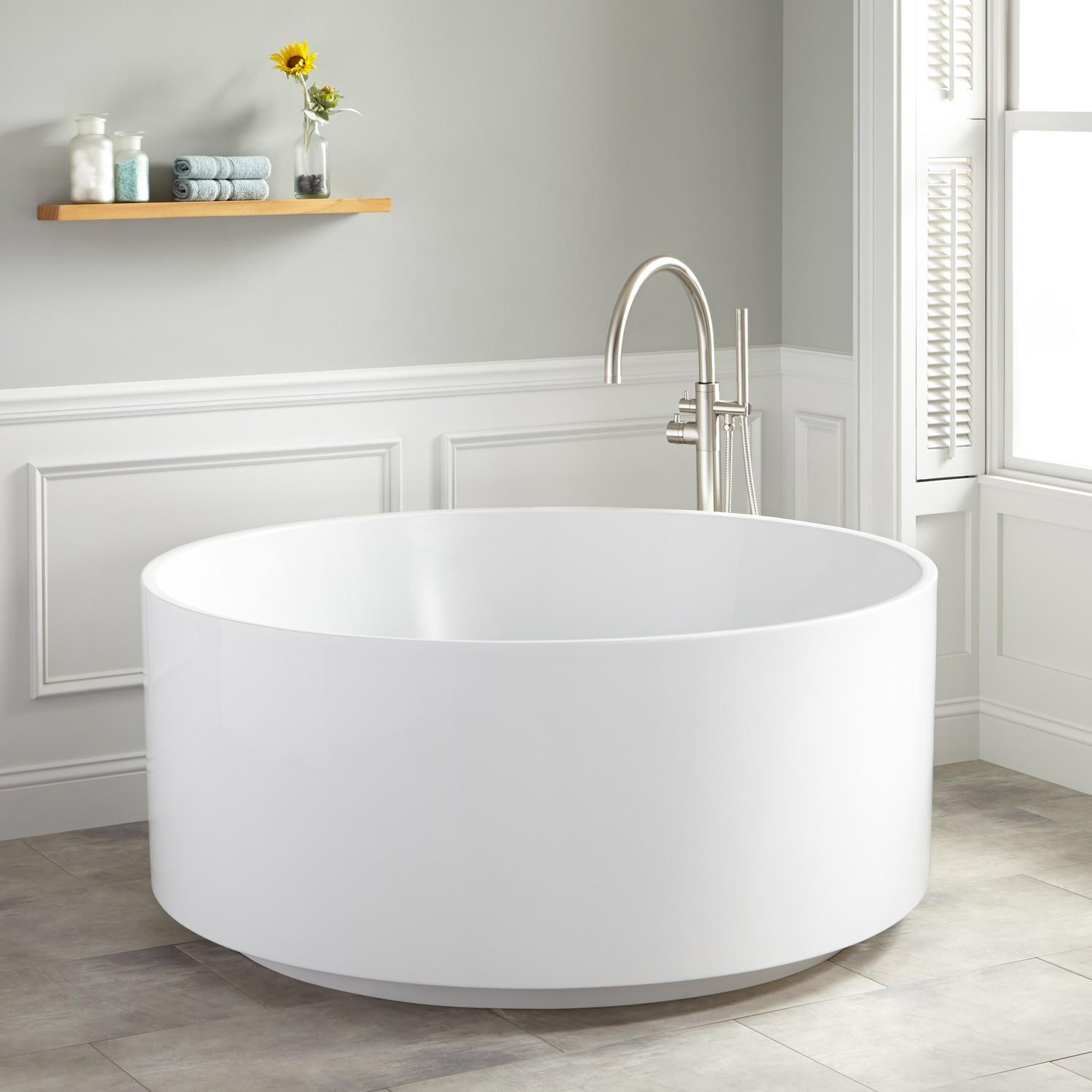 Dempsey Round Acrylic Freestanding Tub Bathroom