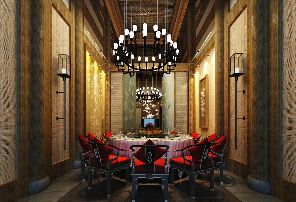 Design Chinese Retro Dining Room